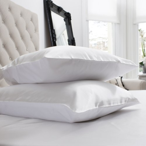 Satin Pillowcase Prevent Hair Loss: Jasmine Silk 100% Pure Mulberry Silk 19 Momme Charmeuse