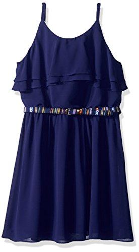 Amy Byer Girls' Big Ruffle Front Chiffon Dress,