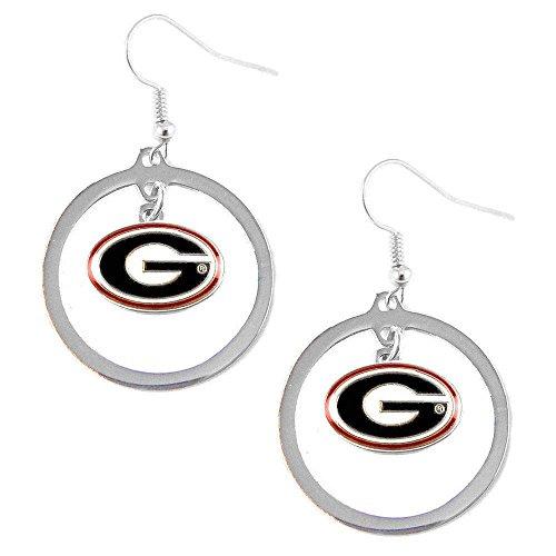 Georgia Bulldogs Hoop - Georgia Bulldogs Hoop Logo Earring Set Ncaa Charm