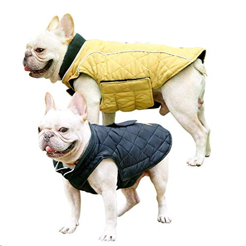 Dog Jackets Dog Winter Vest Coat with Reflective Strips for Indoor Outdoor Activities Suitable for Small Medium Large Pets (Yellow XL) (25 Inch Yellow Body)