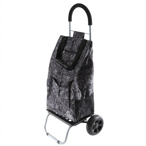 dbest products Trolley Dolly, Paisley Shopping Grocery Foldable Cart
