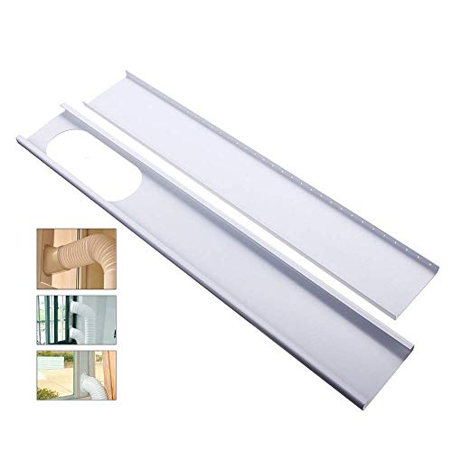 Farway 2pcs Adjustable Window Slide Kit Plate Air Conditioner Wind Shield Portable Air Conditioner Spare Parts