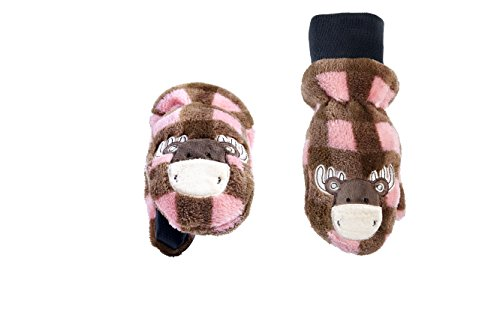 (FlapJackKids - Kids' Winter Mitts - Pink Moose Toddler/Youth… )