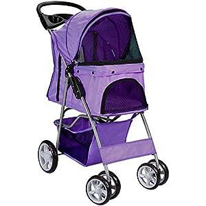 Paws & Pals 4 Wheeler Elite Jogger Pet Stroller Cat/Dog Easy to Walk Folding Travel Carrier 29
