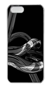 Black abstract N001 PC Transparent customizable iphone 5 cases for Apple iPhone 5/5S