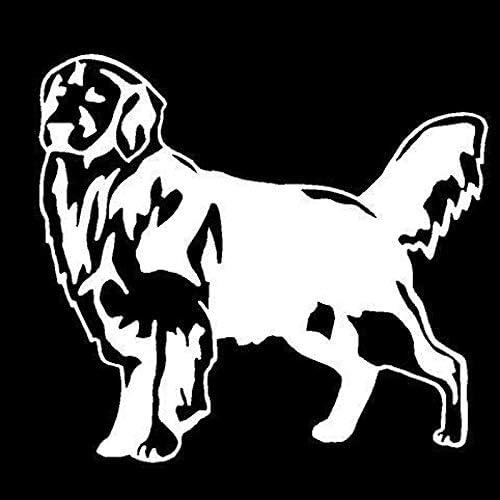 Djskhf 12.7 * 11.6Cmゴールデンレトリバー犬おかしい動物車のステッカークラシックカースタイリングアクセサリーブラック/スライバー Black X 5Pcs