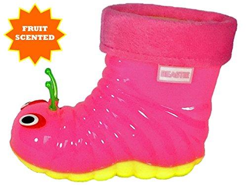 Beastie Shoes Children's Waterproof Rain Boots Cartoon Animals Toddler/Little Kid (26 (8 M US Toddler), Pink) by Beastie Shoes (Image #4)