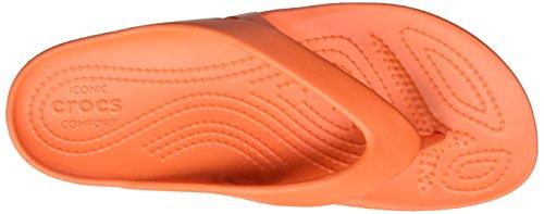 Crocs 202492, Chanclas Mujer Naranja (Tangerine)