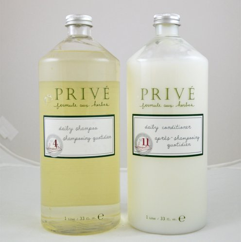 "Prive Daily Shampoo 33oz + Daily Conditioner 33oz ""Liter Combo Set"""
