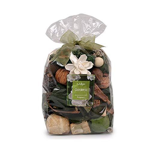 (Jodhpuri Natural Gardenia Scented Potpourri - Fragrance Botanical Mix for Your Bathroom, Living Room, and Office - Includes Tahitian Gardenia, Jasmine, Tuberose, Green Leaves - 18 oz.)