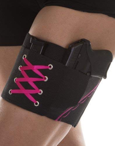 Can Can Concealment Garter Classic Woman's Holster - Hot Pink