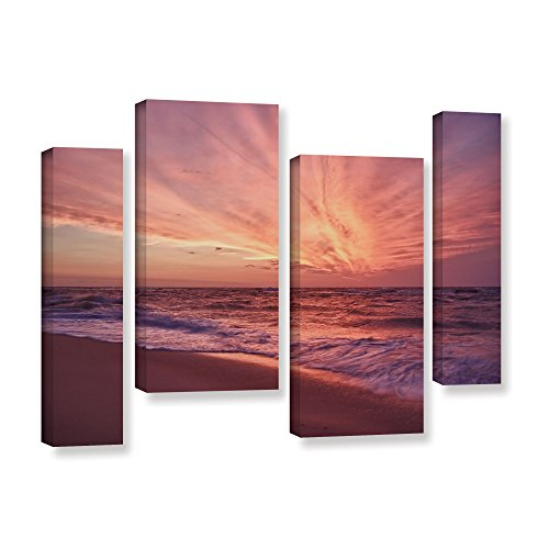 Artwall Dan Wilsons Outer Banks Sunset Iii 4 Piece Gallery Wrapped Canvas Artwork  24 By 36 Inch