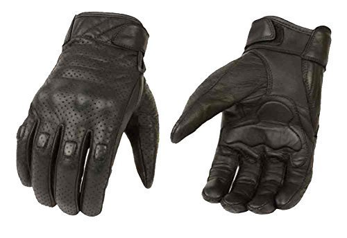 (Milwaukee Leather Men's Premium Leather Perforated Cruiser Gloves MG7500 (L) )
