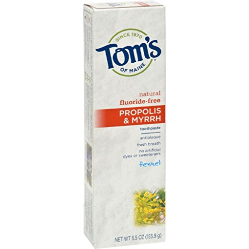 [Tom's of Maine Propolis and Myrrh Toothpaste Fennel - 5.5 oz - Case of 6] (Real Fx Masks)