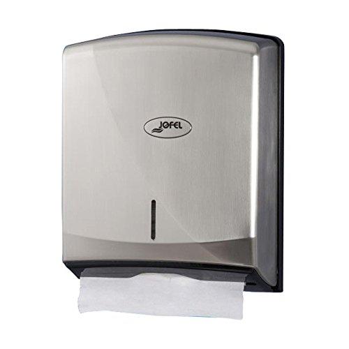 Jofel ah38000 Hand Towels Dispenser Zig-Zag Smart (Z-600, Nickel