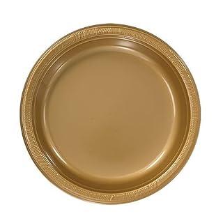 Hanna K. Signature Collection 50 Count Plastic Plate, 7-Inch, Gold (B001DZ5SAS) | Amazon price tracker / tracking, Amazon price history charts, Amazon price watches, Amazon price drop alerts