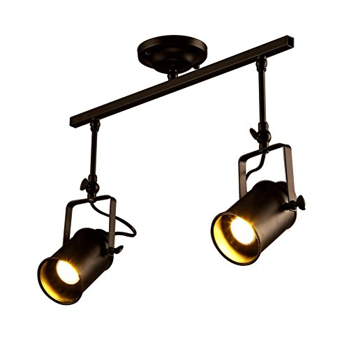 (Creative Rustic Adjustable Single Light LED E26/E27 Stage Spotlights Track Lighting (Two heads))