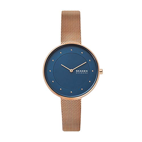 - Skagen Women's Gitte Quartz Watch with Stainless Steel Strap, Rose Gold, 14 (Model: SKW2811)