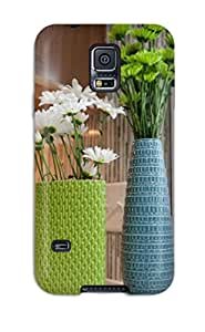 Case Cover Green And Blue Vases In Kitchen/ Fashionable Case For Galaxy S5