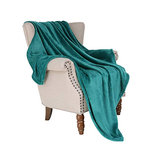 Exclusivo Mezcla Luxury Flannel Velvet Plush Throw Blanket - 50 x 60 (Teal)