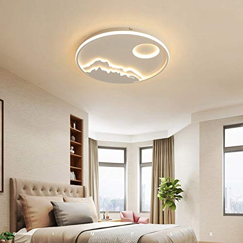 (Modern Flush Mount Ceiling Light,Surf Star Moon Creative Nordic Atmosphere Home LED Ceiling Light For Living Room Bedroom Kids Room (Color : Warm light, Size : C60606CM 48W))