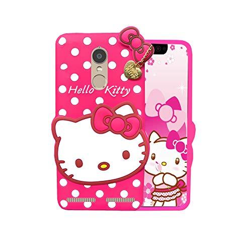 EMPTYMINDS® [3D Girlish Cover] Lovely Hello Kitty Design Soft Back Cover for Lenovo K6 Power