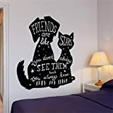 Best Are Like Stars Wall Stickers - Wall Sticker Quotes Decals Decor Vinyl Art Stickers Review
