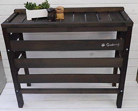 国産 木製 大型室外機カバー ダークブラウン Gardening B015R4DL0O 12960