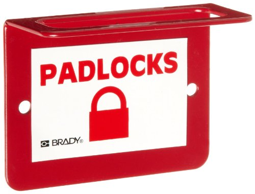 Brady Wall-Mount Unfilled Padlock Station, 4-Padlock ()