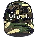 Premium Groom Camo Trucker Hat - Perfect for...