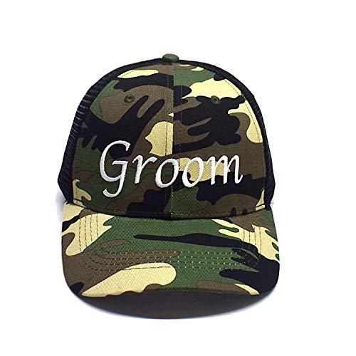 Premium Groom Camo Trucker Hat - Perfect for Bride, Groom, Bachelor Parties and Wedding Gift Idea for The Groom, Groom Baseball Cap