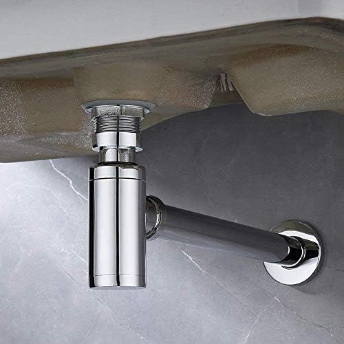 1/4インチのコネクタをネジ付き1ユニバーサルサイフォンシンクと洗濯機、掃除用開口部として蓋トラップ廃棄物のクロム、Röhrensiphon