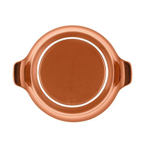 Anolon Vesta Stoneware 2-1/4-Quart Round Casserole, Persimmon Orange