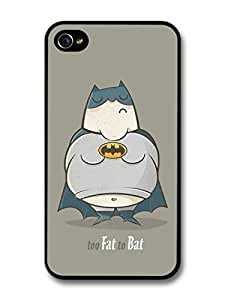 Diy Yourself fashion case Fat Batman Too Fat To Bat Funny Illustration case cover for iPhone 5c R1tskQxPDRo