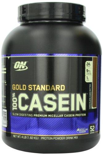 Optimum Nutrition Gold Standard Supplément caséine régime 100%, gâteau au chocolat Batter, 4 Pound
