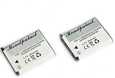 2x Batteria EN-EL10 ENEL10 per Nikon Coolpix S60 S80 S200 S202 S203 S205 S210