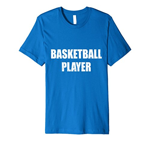 Mens Basketball Player Halloween Costume Party Cute Funny Shirt Large Royal Blue