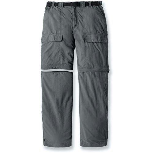 White Sierra Men's Trail 32-Inch Inseam Convertible Pant, Medium, Caviar