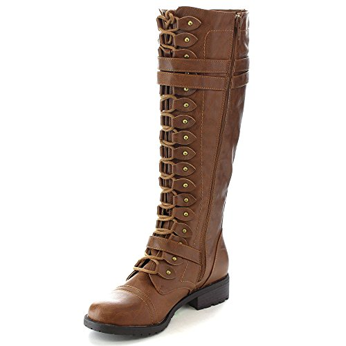 Boots Cognac Lace Wild Knee 65 Timberly Up Diva fww8YqU