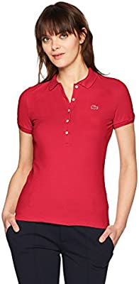 03350d37 Lacoste Women's Classic Short Sleeve Slim Fit Stretch Pique Polo ...