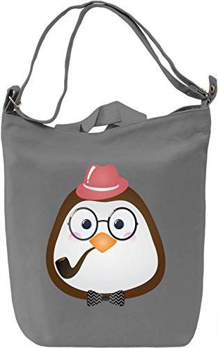 Hipster penguin Borsa Giornaliera Canvas Canvas Day Bag| 100% Premium Cotton Canvas| DTG Printing|