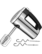 Stainless Steel Hand Mixer, 6-Speed 300W Ultra Power Electric Hand Mixer with 4 Stainless Steel Accessories (2 Beaters & 2 Dough Hooks ), Lightweight Handheld Kitchen Mixer with Eject/ Turbo Function