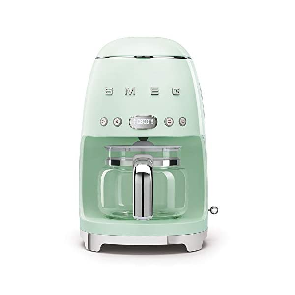 Smeg 50's Retro Style Aesthetic Drip Filter Coffee Machine, 10 cups, Pastel Green 1