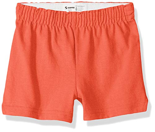 (Soffe Girls' Big Authentic Cheer Short, Living Coral, Extra Small)