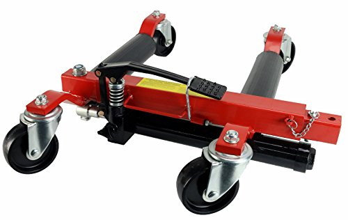 (4) Dragway Tools 12'' Hydraulic Wheel Dolly Vehicle Positioning Jack Lift Hoist with 1500 lb Capacity by Dragway Tools (Image #2)