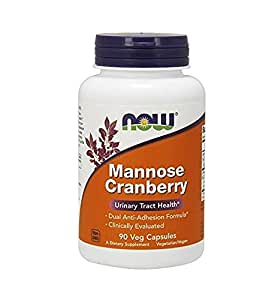 NOW Mannose Cranberry,90 Veg Capsules