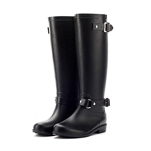 Rainboots Shoes Non Boots Rubber Waterproof Black Haodasi Fashion slip High Red Tube Womens Rain txSWRwqTW
