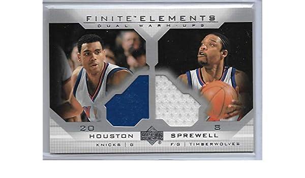 7fde0faa3 Amazon.com  2003-04 UD Finite Basketball Allan Houston-Latrell Sprewell  Dual Warm Ups Card   FE4  Collectibles   Fine Art