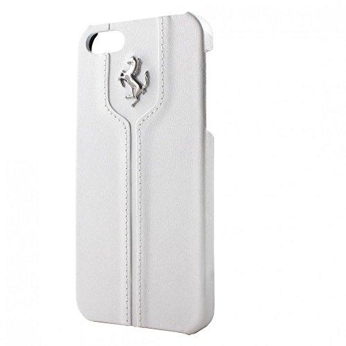 Ferrari FEMTHCP5WH Offizielle Lizenz Montecarlo Etui-Ledertasche für Apple iPhone 5/5S weiß