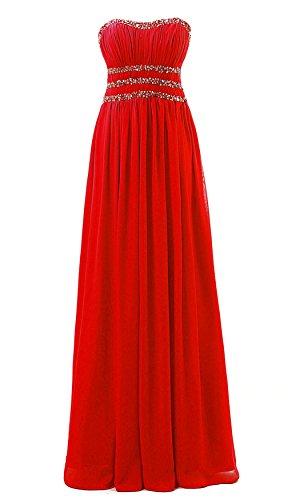 Vantexi Damen Chiffon Prom Kleider Lange Abendkleid ...